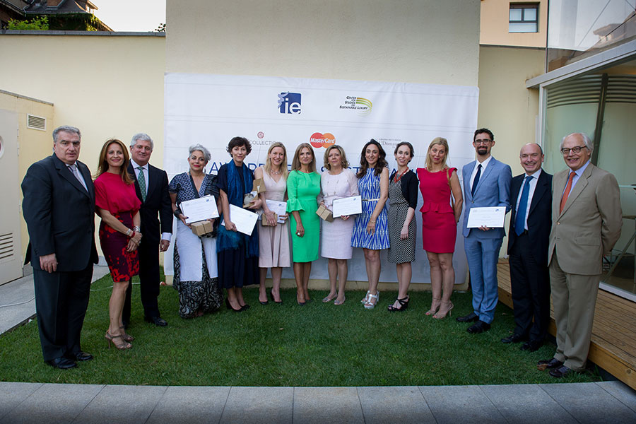 The 2015 winners of the IE Awards for Sustainability in the Premium and Luxury Sectors.