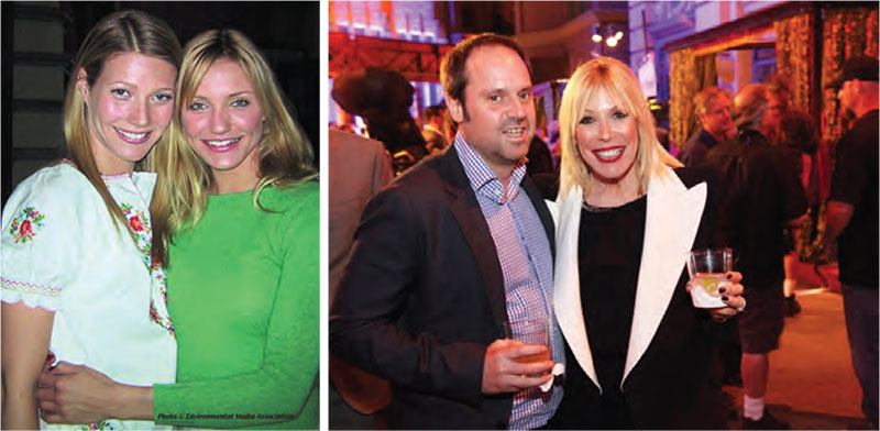 From left: EMA supporters Gwyneth Paltrow, Cameron Diaz, Jeff Skoll and Debbie Levin.
