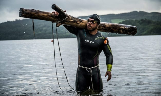 A 15,000 Calorie Diet, 45kg log and 100km shark-infested water swim