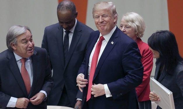 Trump Relishing World's Attention at U.N.